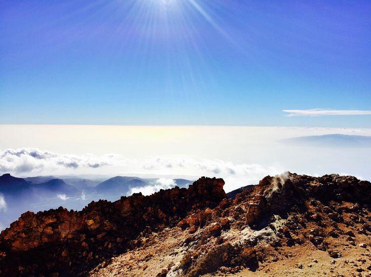 Aussicht vom El Teide bei schönstem Wetter, Teneriffa
