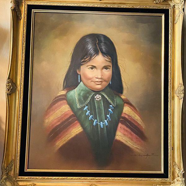 Native Girl Oil Painting Original C J Roman For Sale In Glendale Az Offerup Beautiful Oil Paintings Original Paintings Oil Painting