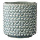 Urtepotte - Boblestruktur - Sky Blue Keramik - H:15,5 cm.   Bloomingville