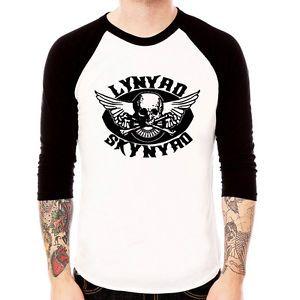 Lynyrd Skynyrd Skull Classic Rock Band Baseball Jersey T Shirt 3 4 Sleeve Raglan | eBay