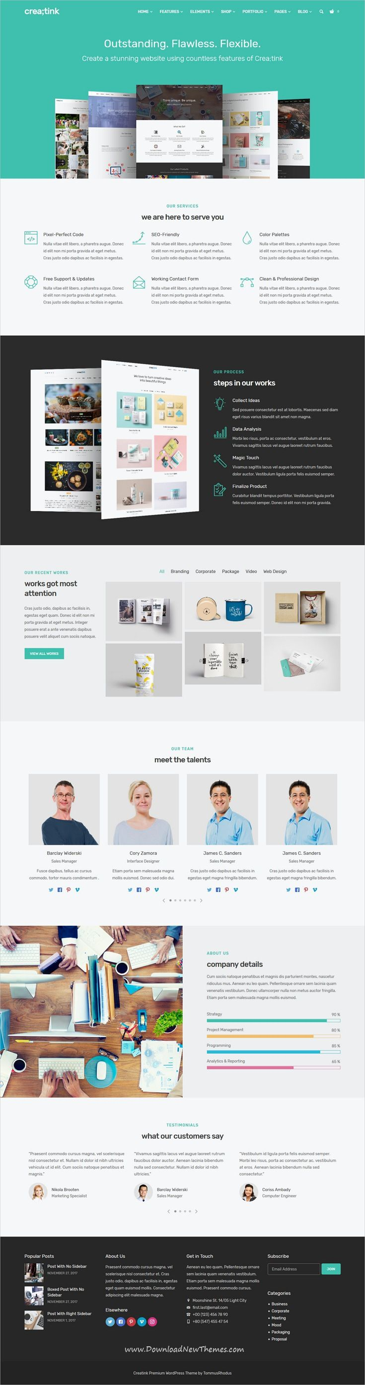 Creatink is clean and modern design 40+ responsive multipurpose WordPress #theme for your #corporate, agency portfolio, photography, personal blog or any other purpose #website to live preview & download click on image or Visit
