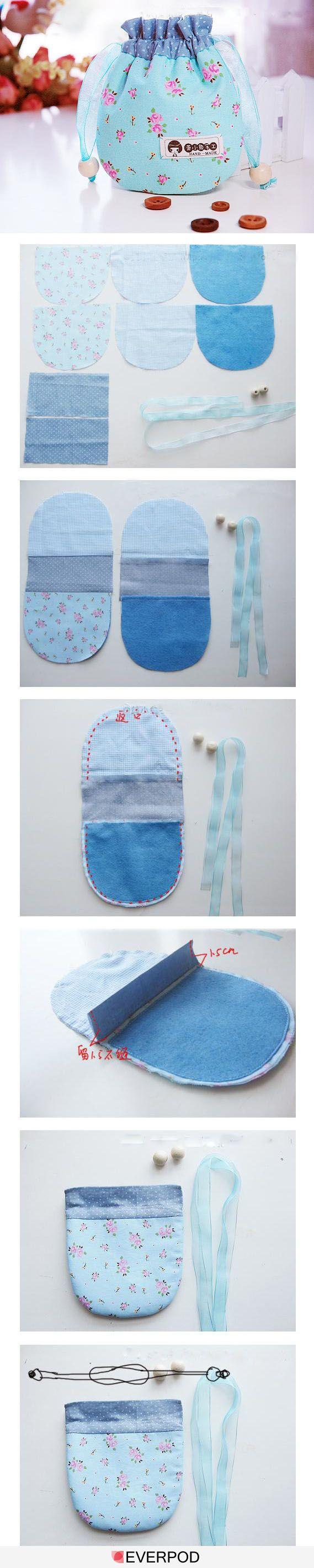 Un paso a paso sencillo para hacer una bolsa con cintas #Singer #yolohice