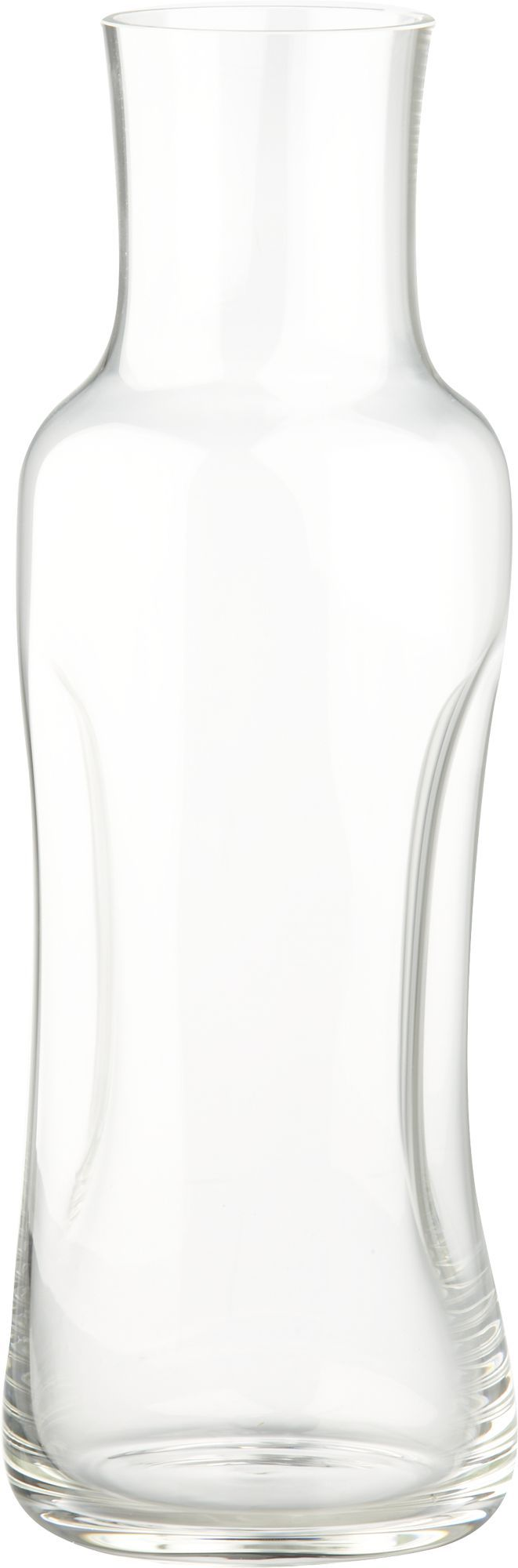Subtly pinched contour makes an impression on slim, modern carafe, ergonomically shaped for an effortless, perfect pour of wine, water, juice and other cold beverages. Each decanter is handmade of specially formulated glass, known for its resilience and brilliance, by master glassworkers at one of Slovakia's oldest glass factories. HandcraftedGlassDishwasher safe; hand washing recommendedNot intended for hot liquidsMade in Slovakia.