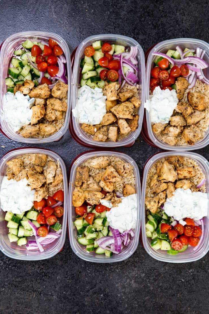 Greek Chicken Bowl Recipes - prep ahead meals