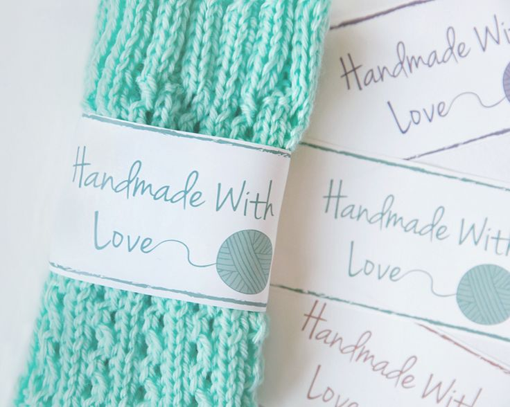 Free Printable Knit and Crochet Labels/ Wrap your Hand made gift with this Free Pretty Label & spot for care instructions.