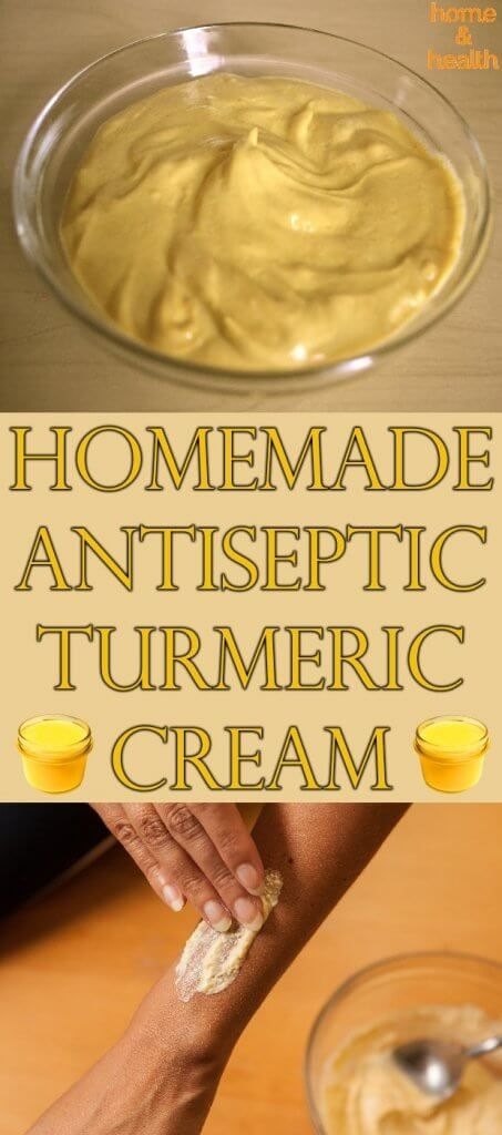 Antiseptic creams contain a lot of substances and disinfecting ingredients that help sanitize the skin while leaving it nourished. This homemade natural turmeric cream will do just that.