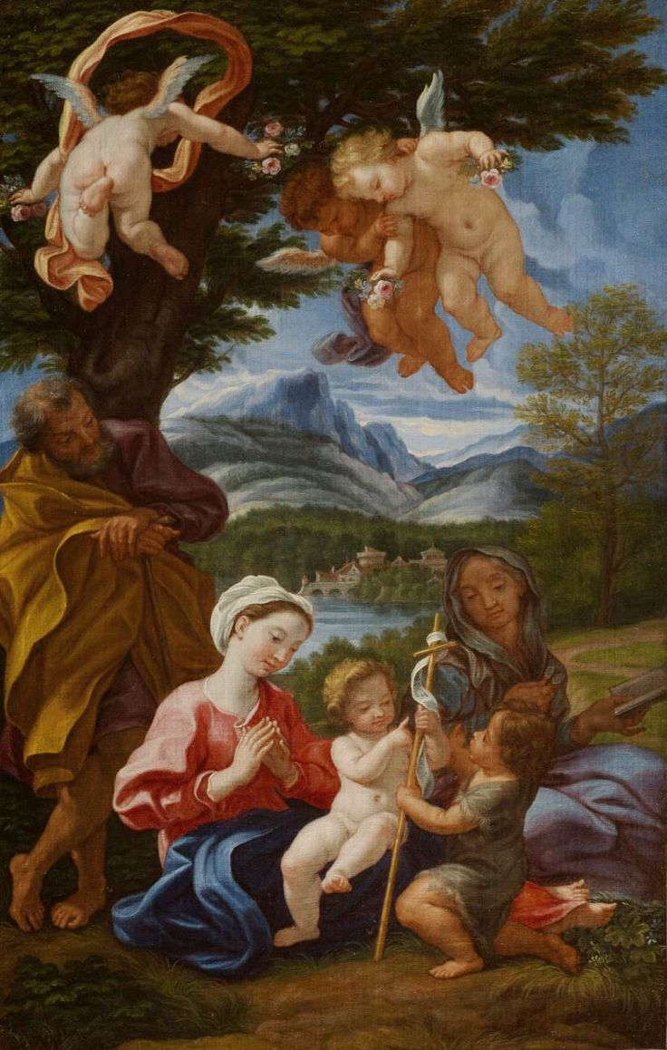 Holy Family with the Young St John the Baptist and St Elizabeth 1687-90 Oil on canvas, 47 x 30 cm Private collection