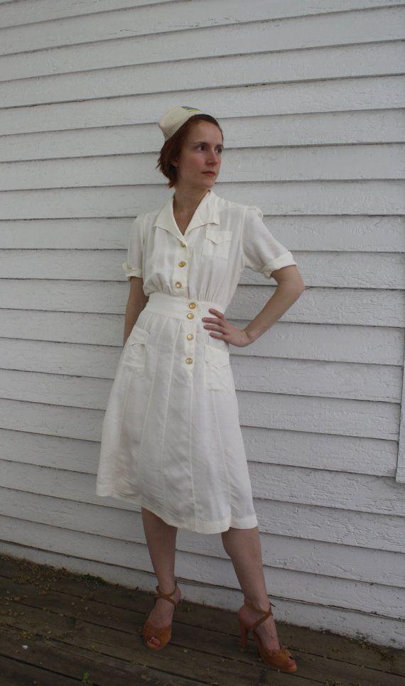 White Nursing Uniform Dresses 62
