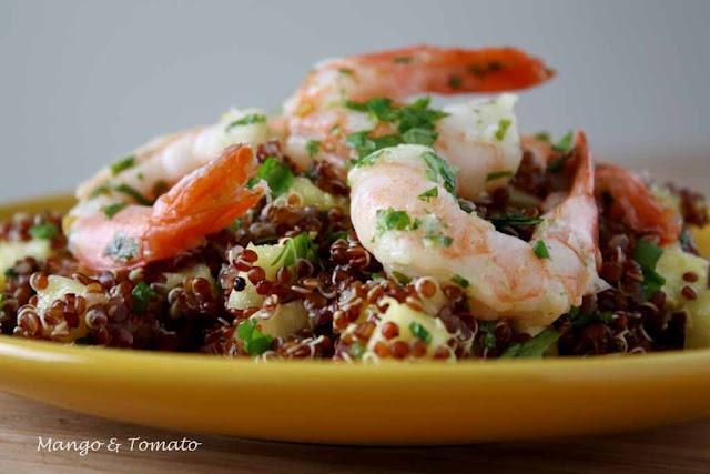 pineapple shrimp quinoa | F O O D A N D D R I N K | Pinterest
