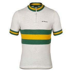 De Marchi Australia Jersey 1972 - Vintage Cycling Jersey - White, Yellow, Green - Maglia da ciclismo