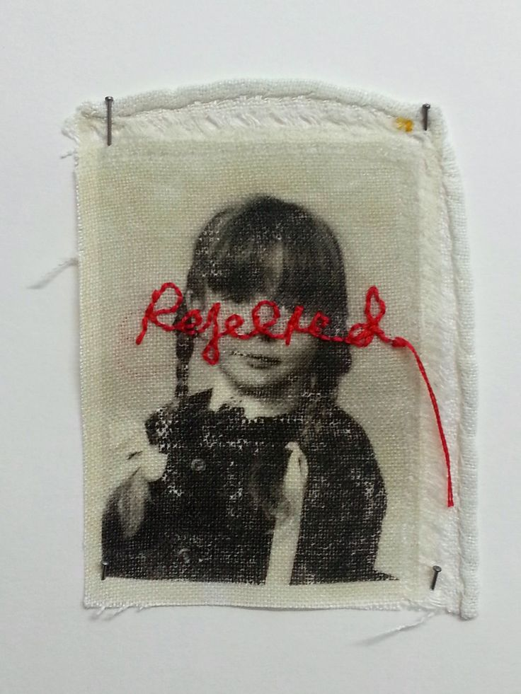 dissociation 'Dissociation' explores the themes of identify and loss of childhood. Photo images have been transferred onto household cloth, altered with hand embroidery and transformed into a hand sewn fabric book.