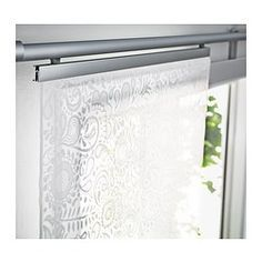 IKEA - ROSENKALLA, Schiebegardine, Schiebegardinen sind ideal für Fensterdekorationen in mehreren Lagen, als Raumteiler oder vor offenen Aufbewahrungslösungen.Die Schiebegardine kann in der Maschine gewaschen werden.Auch als Tischläufer einsetzbar.