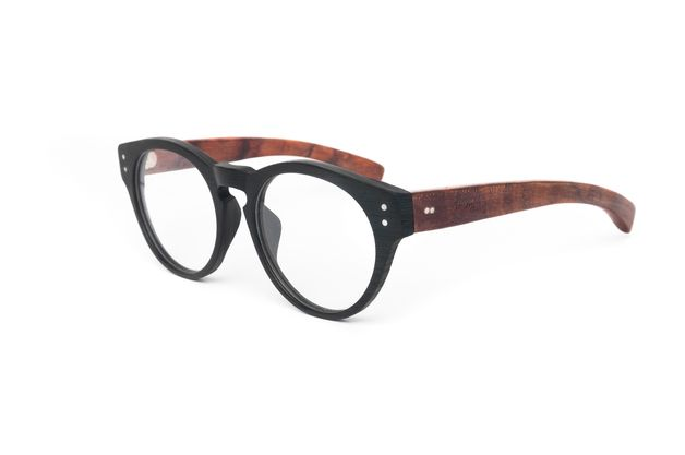 Okulary drewniane / Heban Black- Slimmer - Slimmer - Okulary korekcyjne