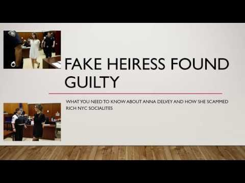 Fake German Heiress Found Guilty - Duped NYC Socialites