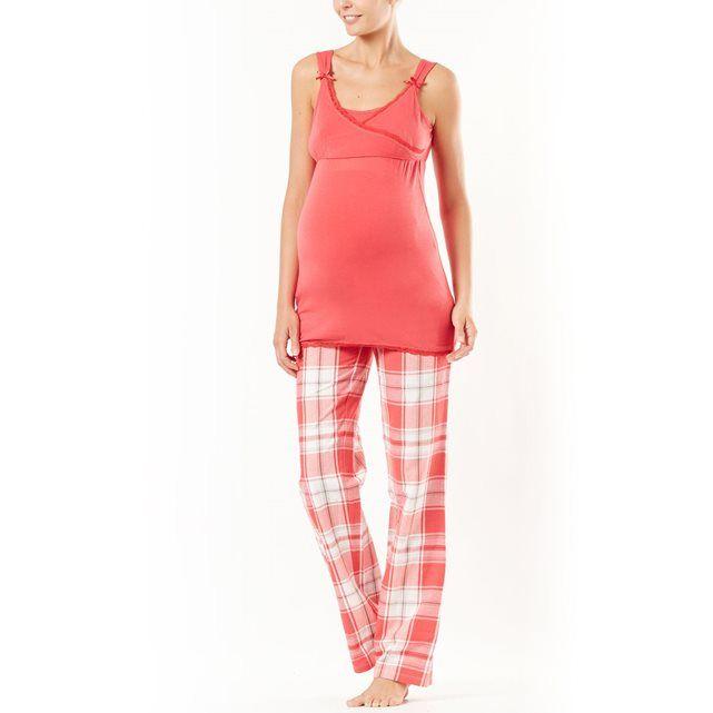 Pyjama 3 pièces grossesse et allaitement en modal COCOON