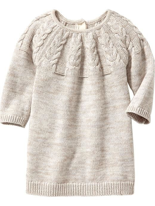 Marled Cable-Knit Sweater Dresses for Baby Product Image