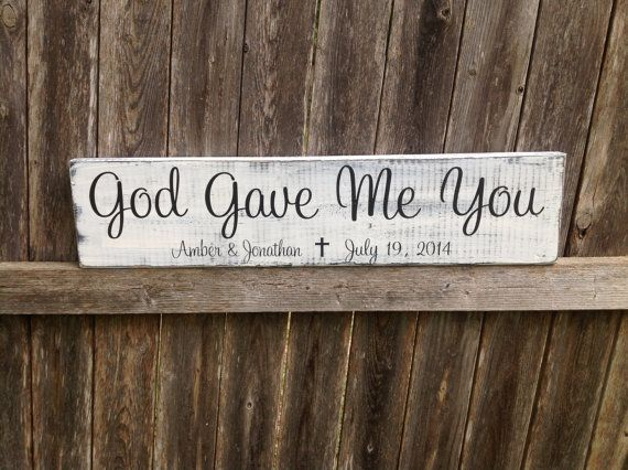 God Gave Me You Personalized Wedding by CastleInnDesigns on Etsy