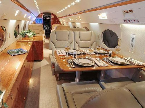The Gulfstream GIV/GIVSP models were one of the most successful private jets, manufactured between 1985 and 2003 and the first private jet to include an all-glass cockpit. The cabin is a full stand-up height at 6 feet 1 inch high and 7 feet 3 inches wide. There are 98 currently advertised for sale between $3.5 and $6.9 million, click here to view them all: https://www.libertyjet.com/private_jets_for_sale/Gulfstream/IVSP