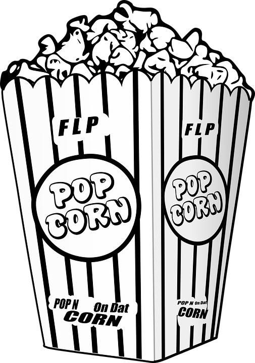 Read Morepopcorn Snack Coloring Sheet Coloring Pages Colored