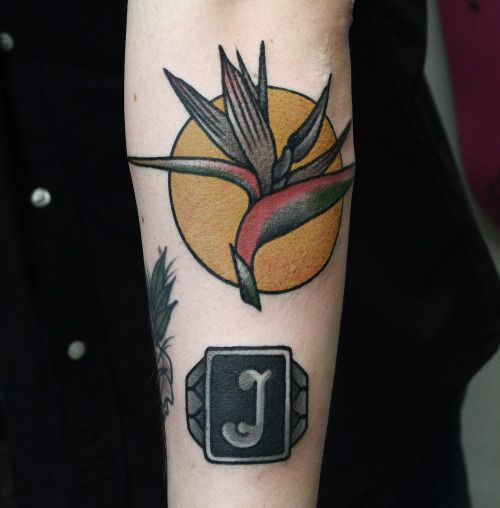 Birds of paradise #tattoo by Philip Yarnell