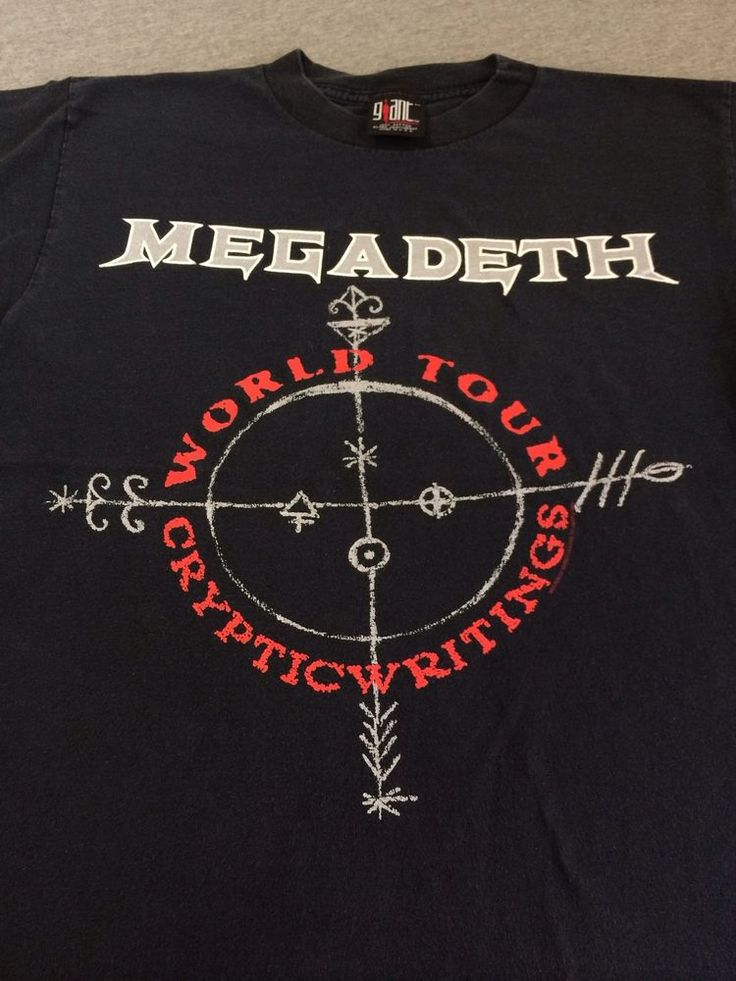 MEGADETH Shirt 1998 World Tour Cryptic Writings Japan Korea Dates USA Made M #Giant #GraphicTee