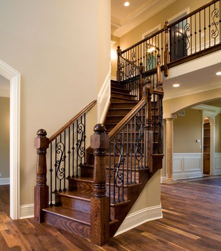 Stairs And Foyer : Ideas about wood stair railings on pinterest