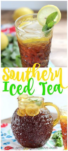 Southern Sweet Tea recipe from Served Up With Love. The ultimate refreshment with a secret to take out all the bitterness. www.servedupwithlove.com