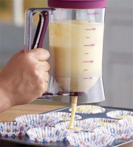 TOP-Teig-Trichter-Portionierer-Messskala-Dosierer-Spender-Cupcake-Muffin-900ml