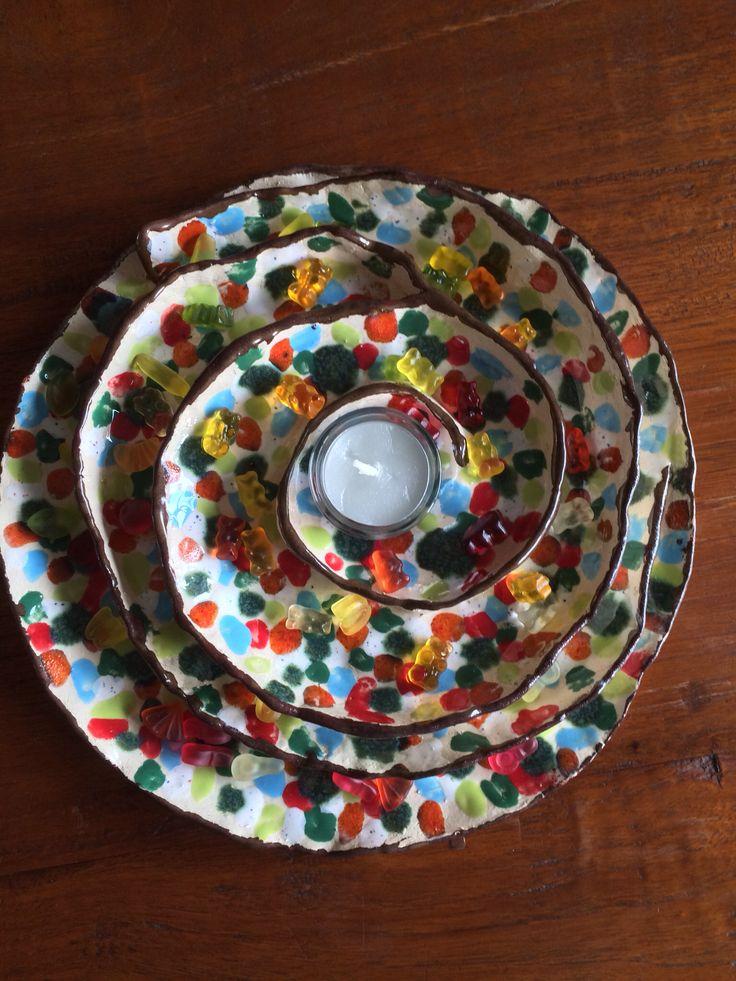 Schale - Herbst 2013 - Keramik - ceramic - Ton - getöpfert - gut geeignet für ein Teelicht, leckere Kleinigkeiten wie Oliven, Cräcker, Käsewürfel oder aber auch für Schokolade oder Gummibärchen - Pottery
