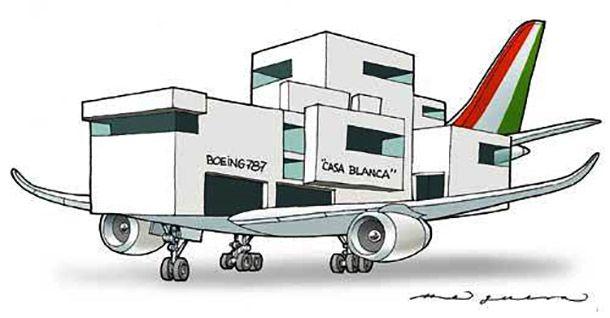 Regeneración, 18 de diciembredel2015.-Hoy llega el avión presidencial, un Boeing 78-8 Dreamliner, que costó en un primer pago de 125 millones 45 mil 800 dólares, que al tipo de cambio de 17.35 pesos (17 de diciembre de 2015) el costo en pesos sería de 2 mil 169 millones 544 mil 630 pesos. Pero este no …