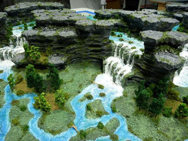 Foam Jungle 3D Hex Miniature Gaming Map