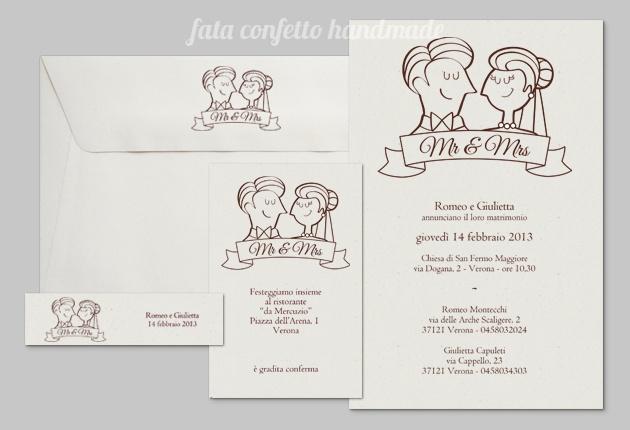 Partecipazioni di nozze Carosello