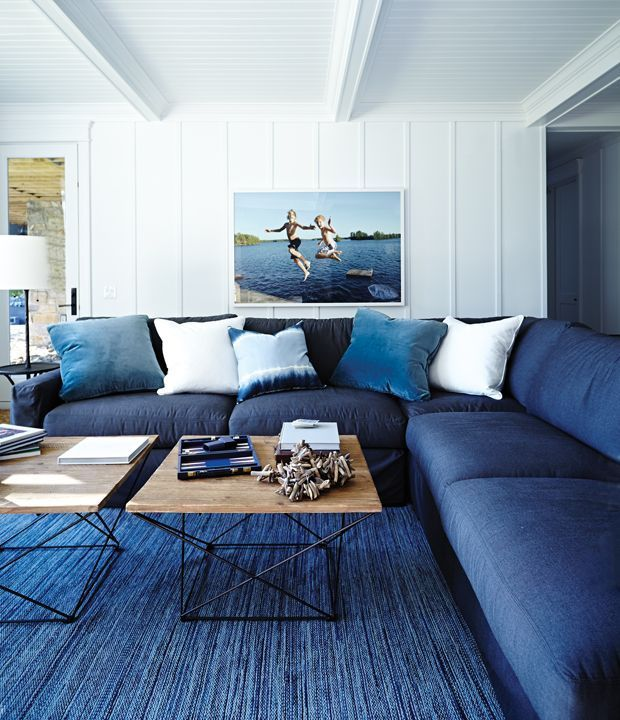 30 Decorating Ideas To Wake Up Your Cottage Blue Living Room Living Room Color Living Room Color Schemes