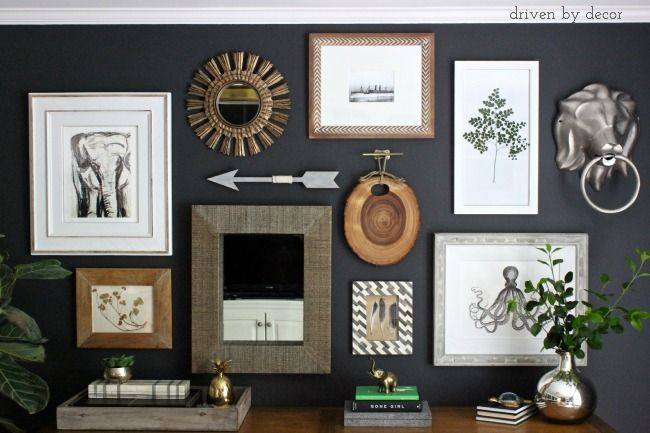 Creating an Eclectic Gallery Wall - I've always loved eclectic art walls that have a mix of interesting sizes, shapes, and textures and I decided it was time to…