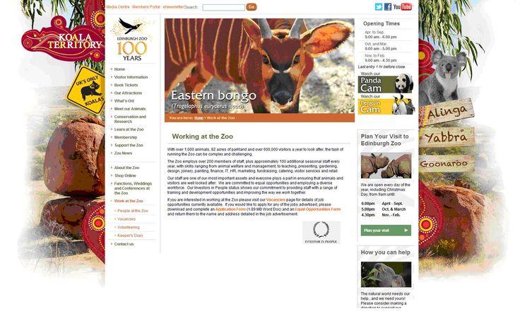 Working at Edinburgh Zoo - an Investor in People