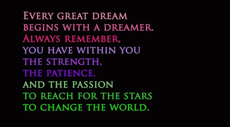 Every great dream begins with a Dreamer #goodnight #gn #quotes