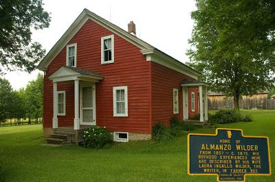 Almanzo's boyhood home in upper New York State.Rose visited here in October 1932, when she was rewriting FARMER BOY, her mother's second book. Laura's manuscript had been rejected by the publisher and was only accepted after Rose did a complete rewrite.