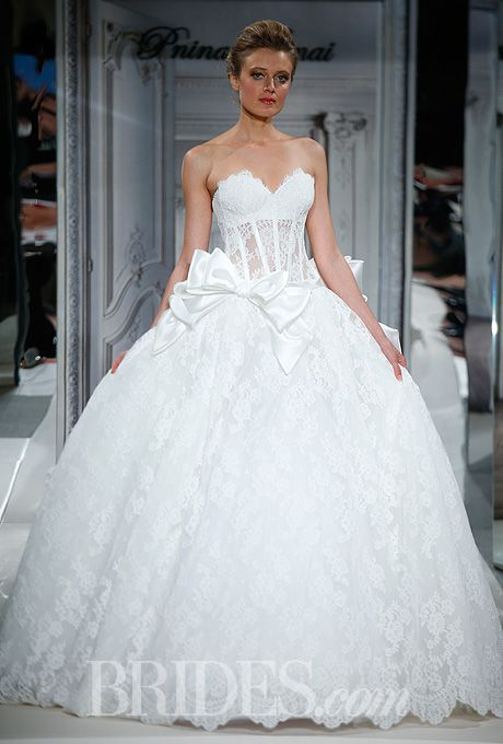 Pnina Tornai for Kleinfeld. This gown is absolutely to die for. I'd probably add some Swarovski detail on the bodice :)