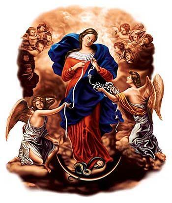 Our Lady, Untier of Knots.  Brazilian Catholic image of the problem-solving divine.