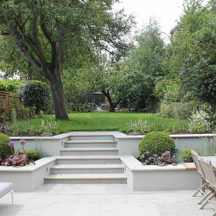 Best 25 sloping garden ideas on pinterest for Tiered garden designs
