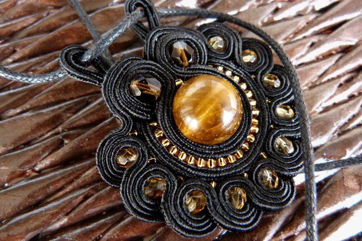 'Ab aeterno' - handmade soutache pendant by nikkichou.deviantart.com on @deviantART