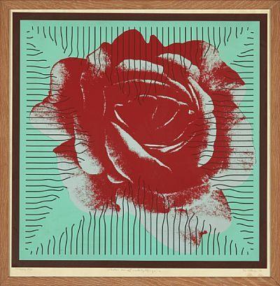 """PER KLEIVA TROMS 1933  """"Organisk konstruert"""" 1972 Fargeserigrafi, 30/85, 76x76 cm Signert og datert nede til høyre: Per Kleiva -72"""