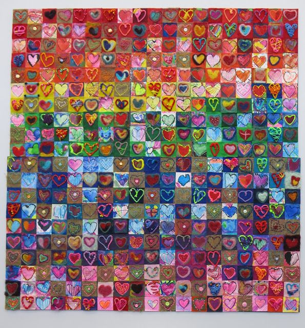 In the Art Room: School-Wide Collaborative Series, Our School has Heart, Part II and A Giveaway!