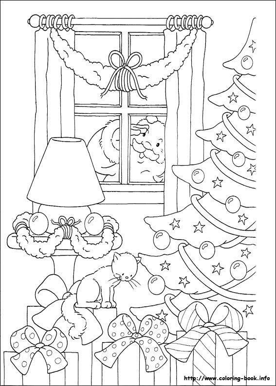 Christmas coloring picture