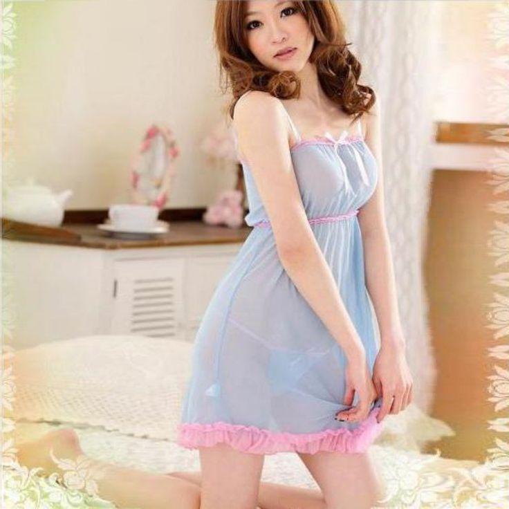 Ladies Sexy Nightdress Women Nighties V-neck Nightgown Lace Sleepwear Nightwear Deep V Lingerie Babydoll