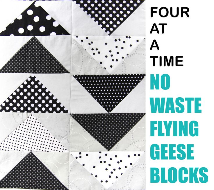 Tutorial No Waste Flying Geese Four At A Time Step By