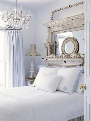 this is actually the feel I will use in the guest room...kind of cottage- beachy- cabin -grandmommys -house style...