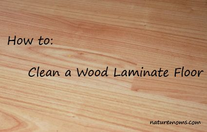 How to naturally clean wood laminate flooring (pet & kid safe)