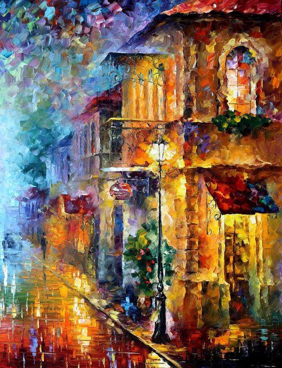 Vitebsk Street Set of 2 paintings PALETTE by AfremovArtStudio