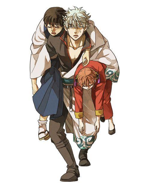 Gintoki, Shinpachi et Kagura